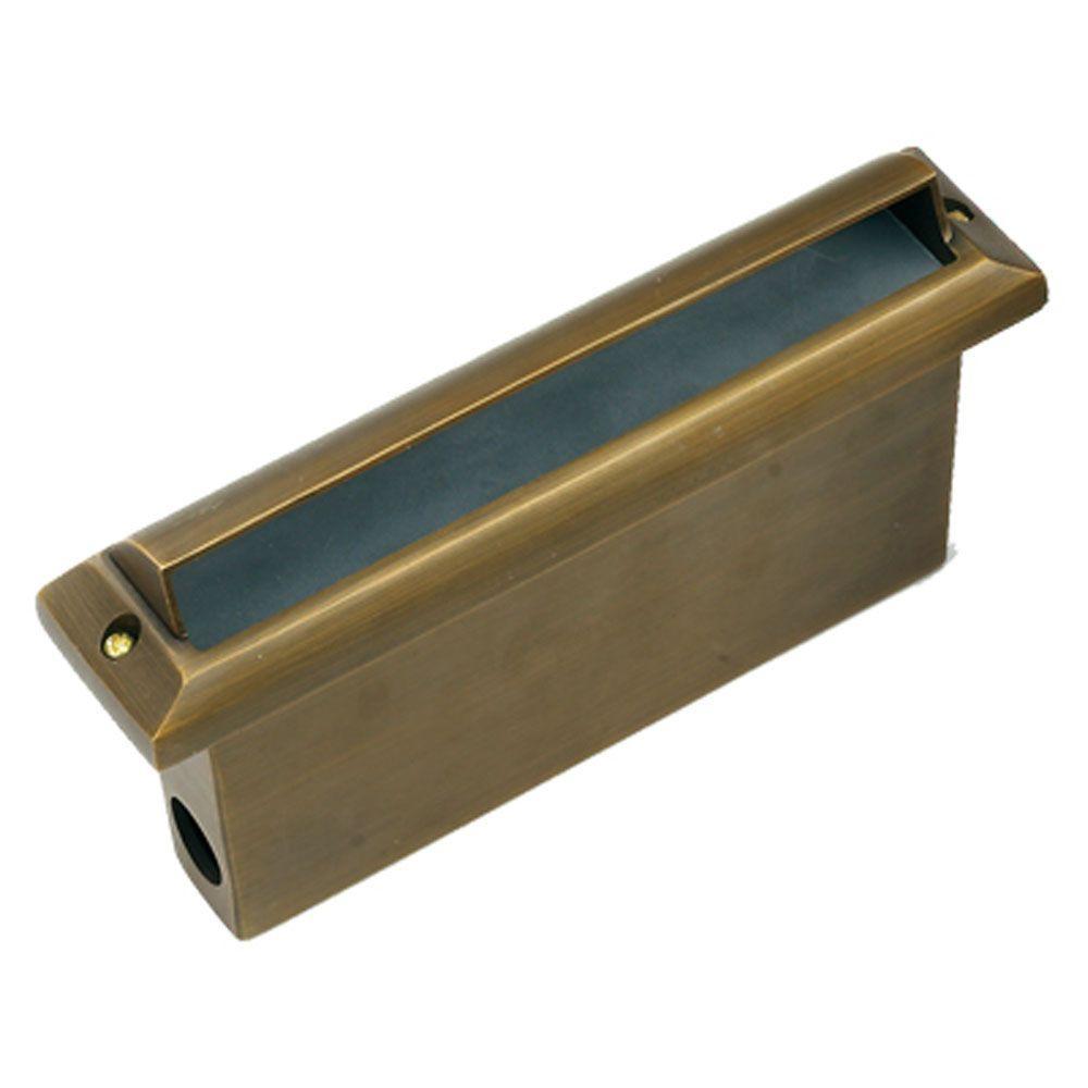 1-Light Antique Bronze Die Cast Brass Thinline Step Light