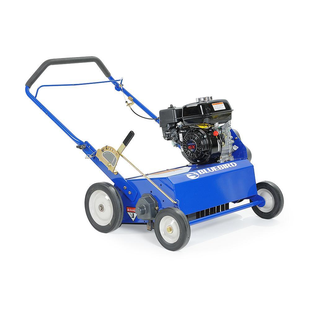 22 in. 5.5 HP Gas Powered Power Rake-Dethatcher with Honda GX160 Engine