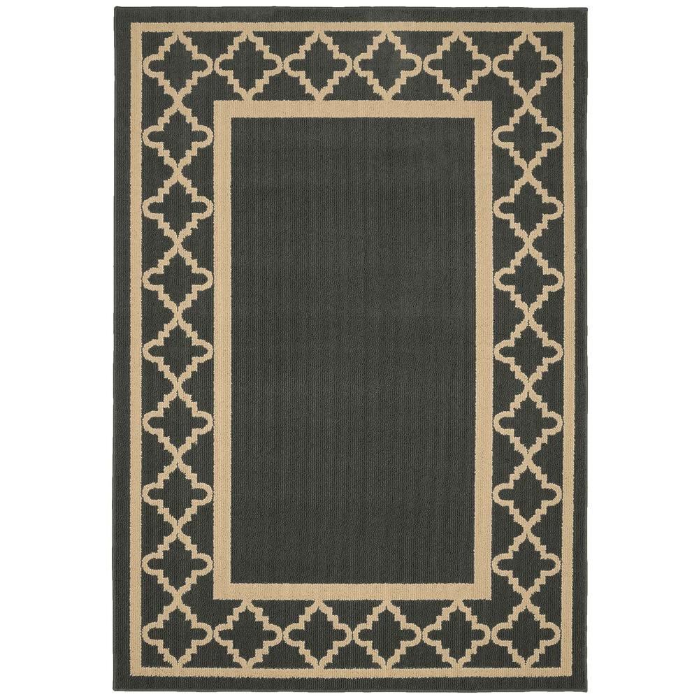 Garland Rug Moroccan Frame Cinder Tan 5 Ft X 7 Ft Area Rug Ll190a06008440 The Home Depot