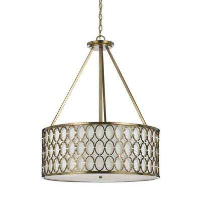 8218 5-Light Brass Pendant
