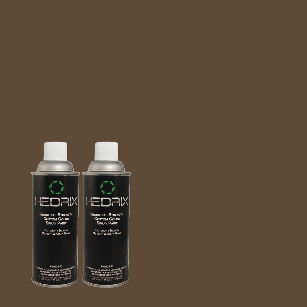 Hedrix 11 oz. Match of PPU5-1 Espresso Beans Semi-Gloss Custom Spray Paint (2-Pack)