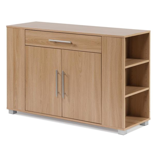 undefined Sorento Oak Sideboard with Drawer and End Shelf