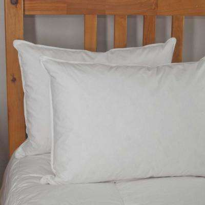 233 Thread Count White Goose Feather Jumbo Pillow Twin Pack