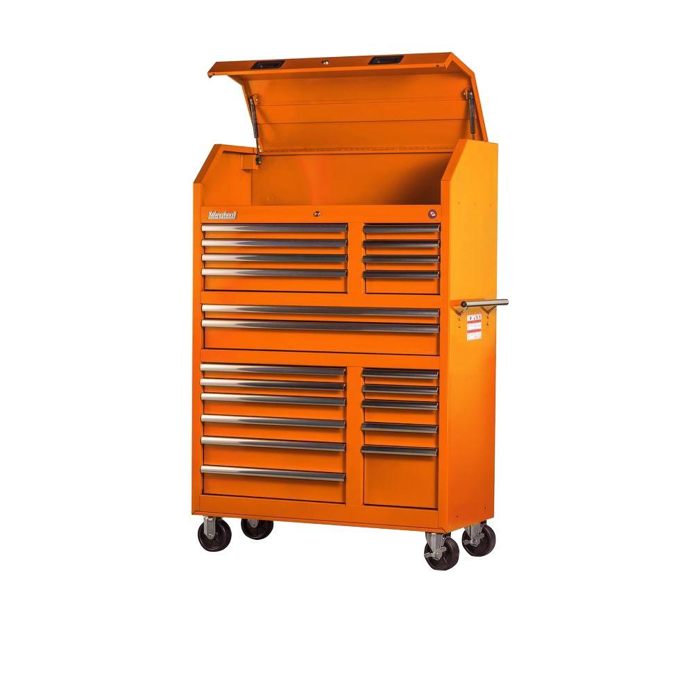 Tech Series 42 in. 20-Drawer Tool Tower, Orange