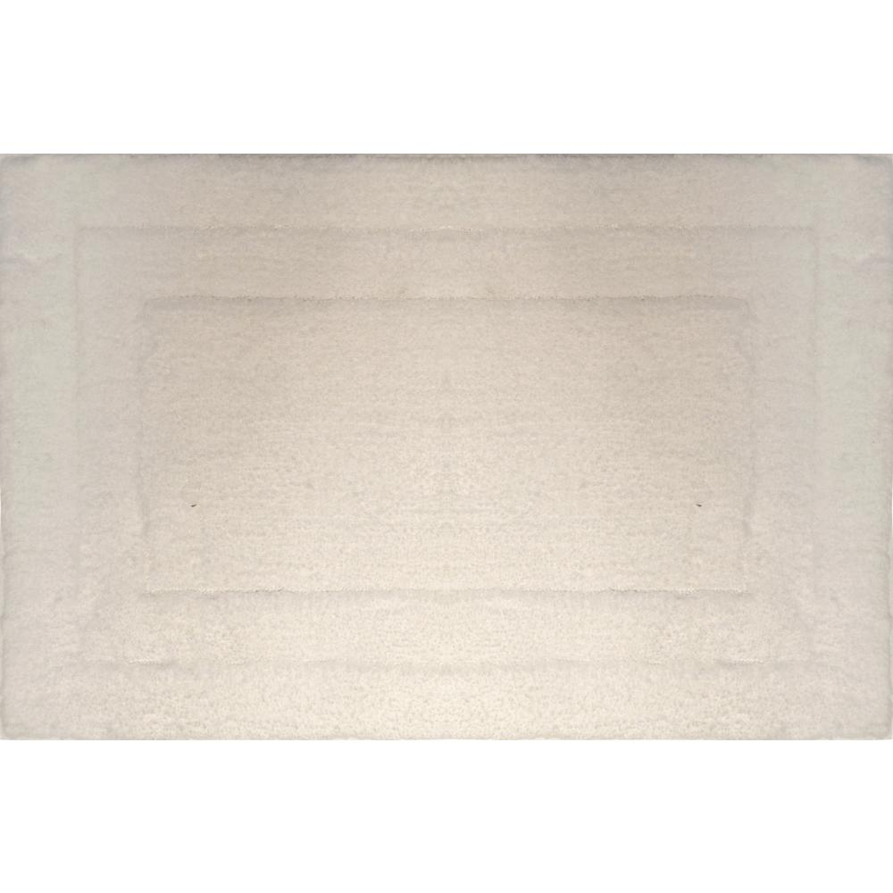 Loft White 17 in. x 24 in. Microfiber Bath Mat