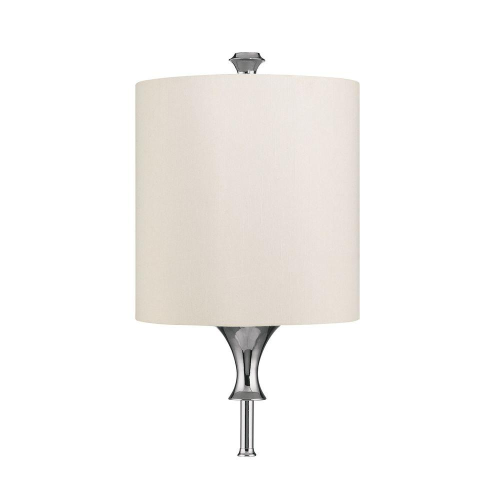 Filament Design 3-Light Polished Nickel Diffuser Sconce with Frosted Glass