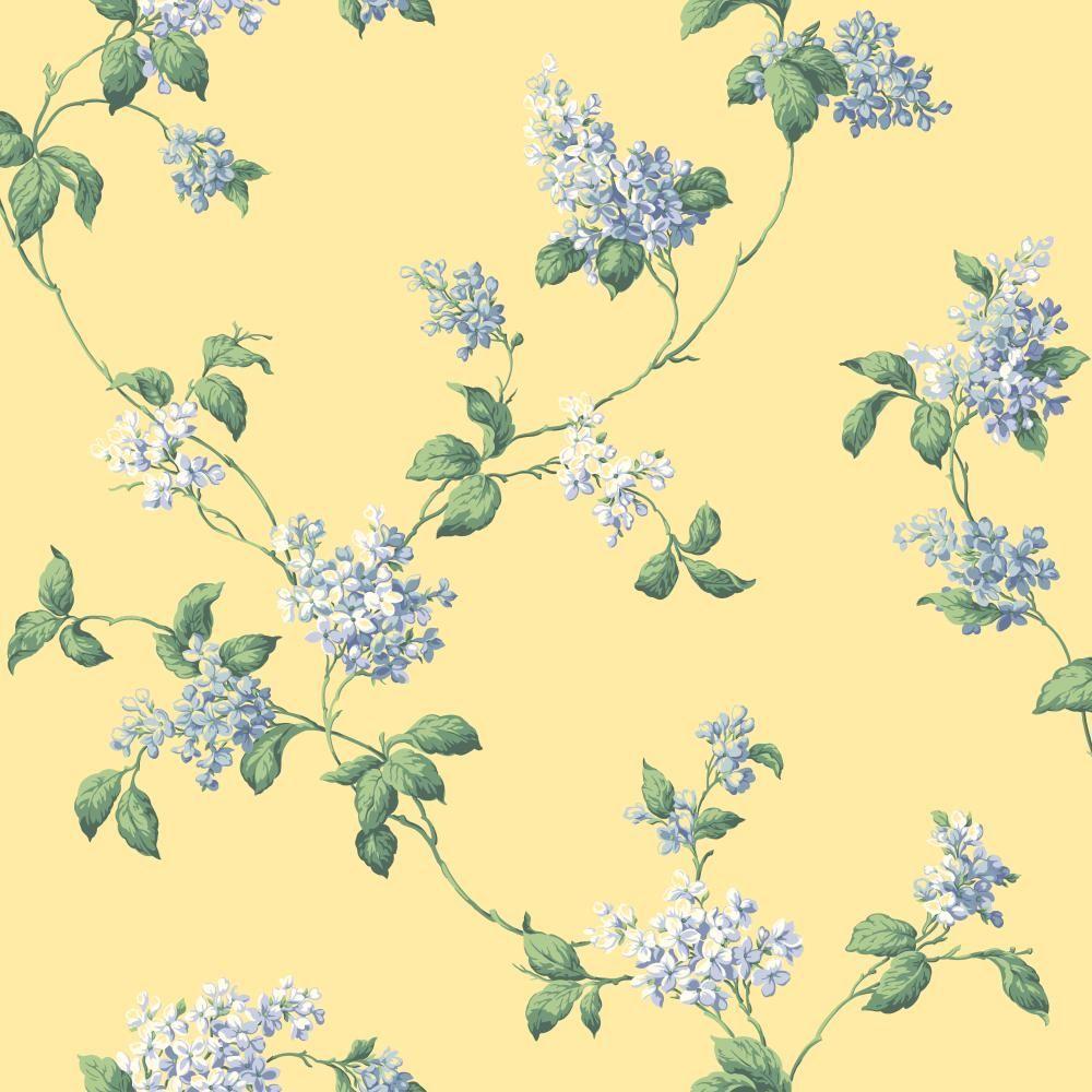 York Wallcoverings Lilac Trail Wallpaper-JG0623 - The Home Depot