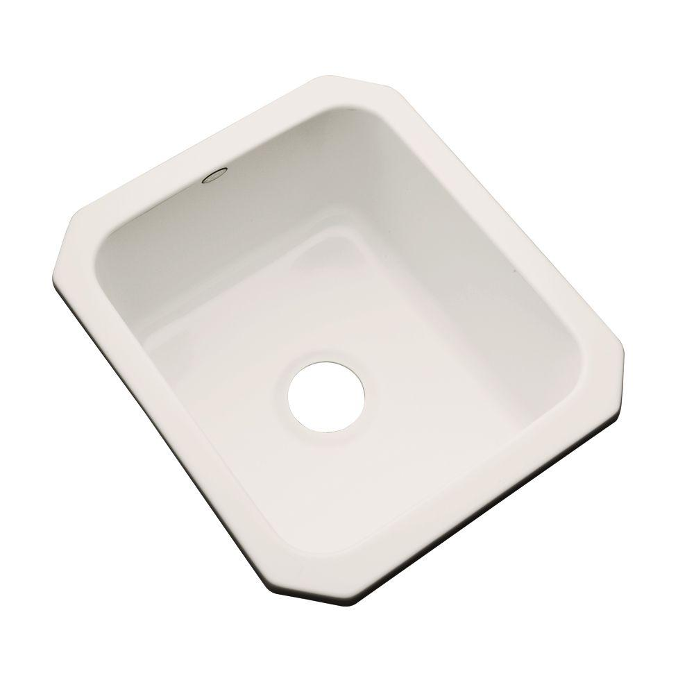 Thermocast Crisfield Undermount Acrylic 17 in. Single Bowl Entertainment Sink in Natural