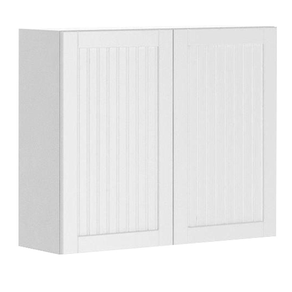 Eurostyle Odessa Ready to Assemble 36 x 30 x 12.5 in. Wall Cabinet in White Melamine and Door in White