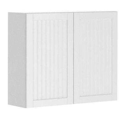Odessa Ready to Assemble 36 x 30 x 12.5 in. Wall Cabinet in White Melamine and Door in White
