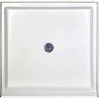 48 in. x 34 in. Single Threshold Shower Base in White