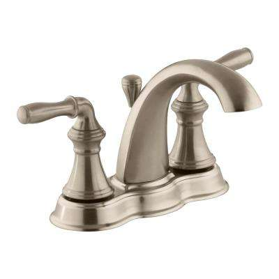 Devonshire 4 in. Centerset 2-Handle Mid-Arc Water-Saving Bathroom Faucet in Vibrant Brushed Bronze