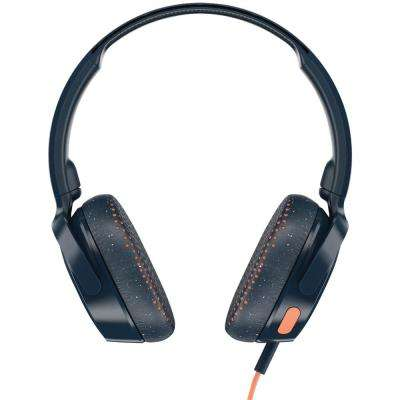 Riff On-Ear Wired Headphones with Microphone in Blue