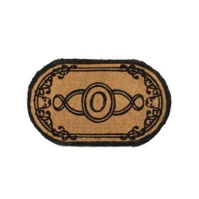 Perfect Home Lexington Oval Monogram Mat 24 in. x 39 in. x 1.5 in. Monogram O-DISCONTINUED