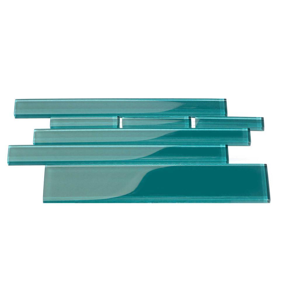 - Dark Teal Rectangular Brick 9.5 In. X 10.5 In. X 8mm Glass