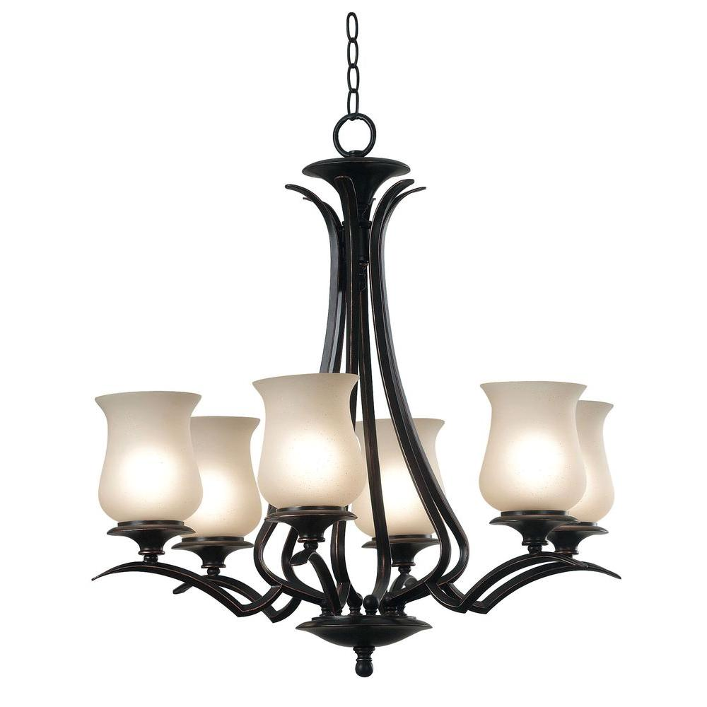 Kenroy Home Bienville 6-Light Oil Rubbed Bronze Chandelier-DISCONTINUED