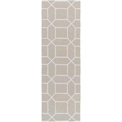 Kingston Peak Ivory 3 ft. x 8 ft. Indoor/Outdoor Runner Rug