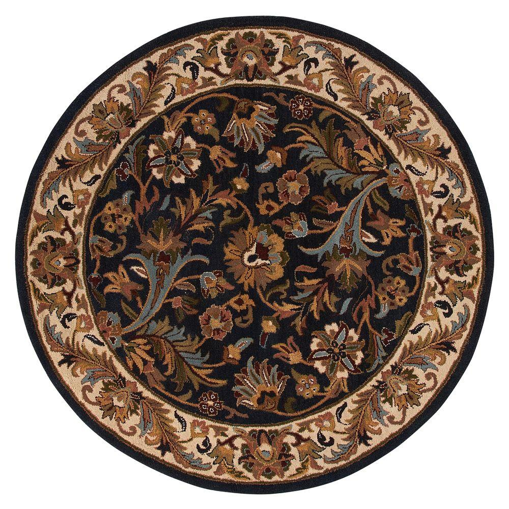 home decorators collection dudley blue beige 5 ft 9 in round area rug 2298465320 the home depot. Black Bedroom Furniture Sets. Home Design Ideas