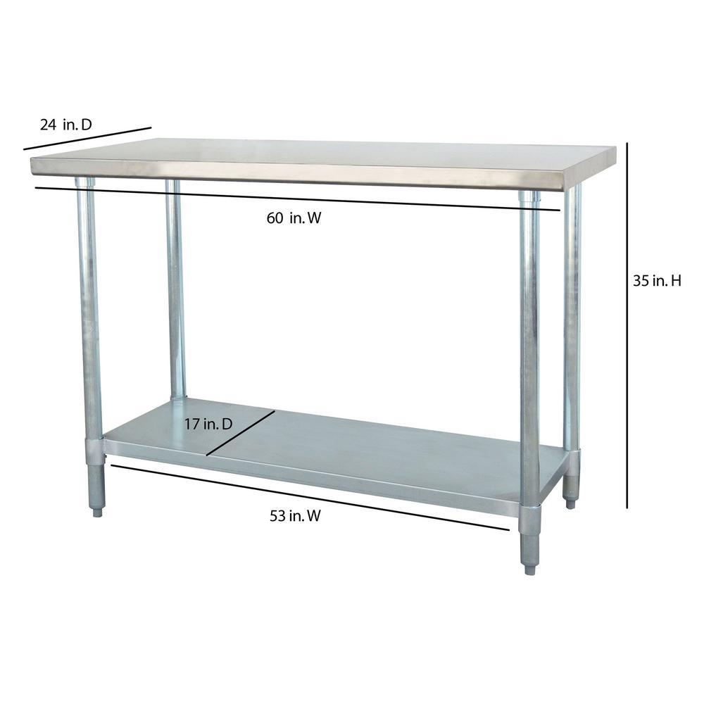 Internet #203715800. +4. Sportsman Stainless Steel Kitchen Utility Table