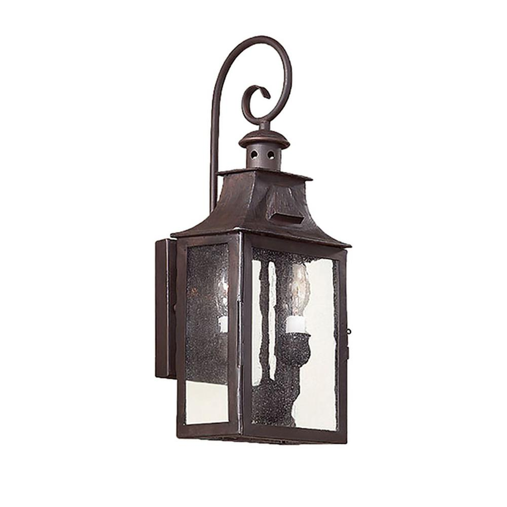 Troy Lighting Newton 2 Light Old Bronze Outdoor Wall Lantern Sconce