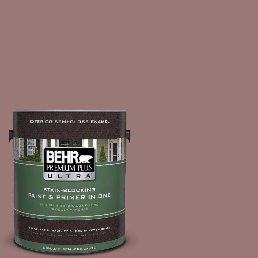 BEHR Premium Plus Ultra 1-gal. #130F-5 Mushroom Basket Semi-Gloss Enamel Exterior Paint