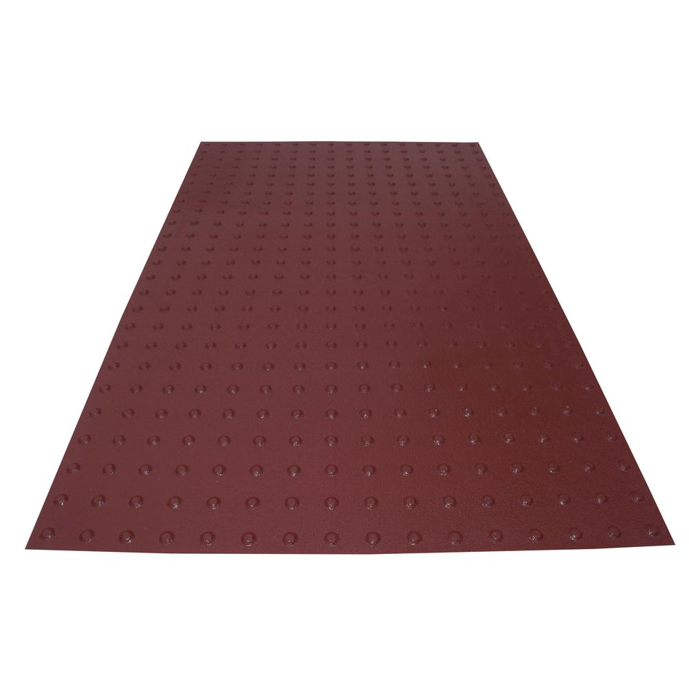 PowerBond 36 in. x 5 ft. Colonial Red ADA Warning Detectable
