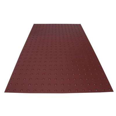 PowerBond 36 in. x 5 ft. Colonial Red ADA Warning Detectable Tile (Peel and Stick)