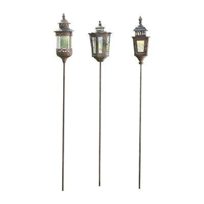 Jackson Square 50 in., 51 in. and 52 in. Smoke Finished Iron Decorative Garden Stakes (Set of 3)