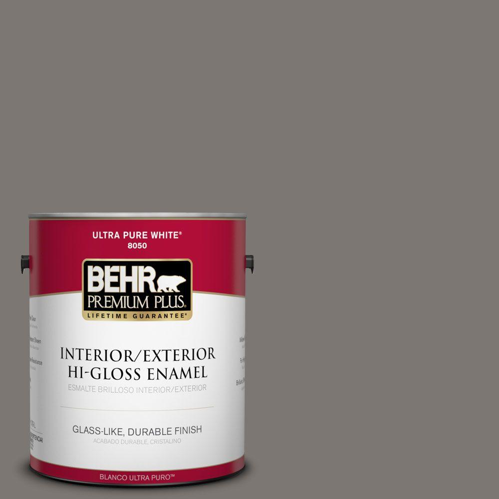 BEHR Premium Plus 1-gal. #790F-5 Amazon Stone Hi-Gloss Enamel Interior/Exterior Paint