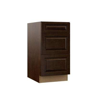 Gretna Embled 18x34 5x23 75 In Drawer Base Kitchen Cabinet Espresso