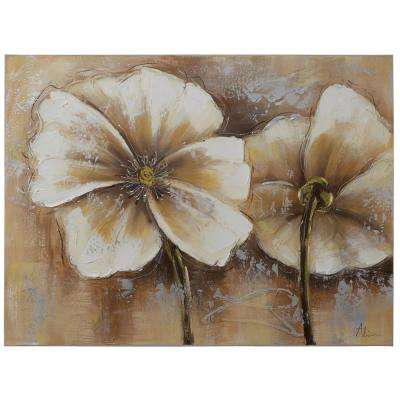 """24 in. x 31 in. """"Full Bloom II"""" Hand Painted Canvas Wall Art"""