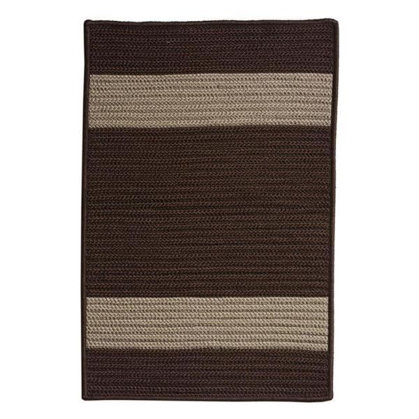 Cafe Milano Chocolate 2 ft. x 3 ft. Braided Indoor/Outdoor Area Rug