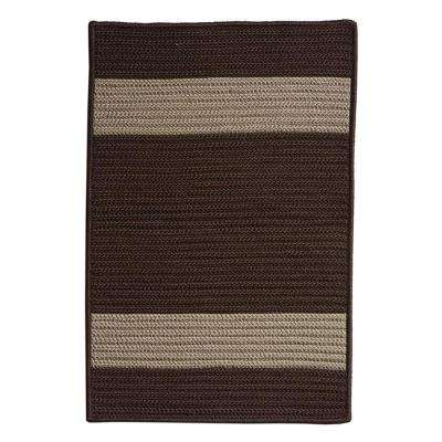 Cafe Milano 2 ft. x 11 ft. Chocolate Indoor/Outdoor Braided Runner Rug