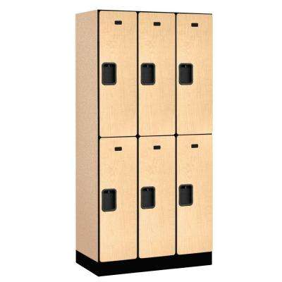 32000 Series 36 in. W x 76 in. H x 18 in. D 2-Tier Designer Wood Locker in Maple