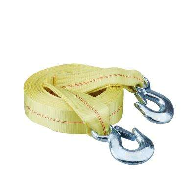 20 ft. x 2 in. Heavy-Duty Tow Strap with Safety Hooks