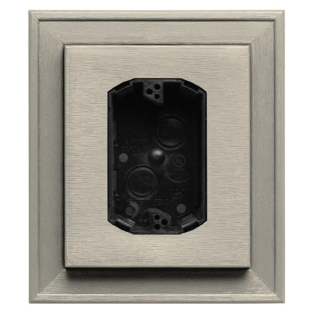 Builders Edge 7 in. x 8 in. #089 Champagne Electrical Mounting Block