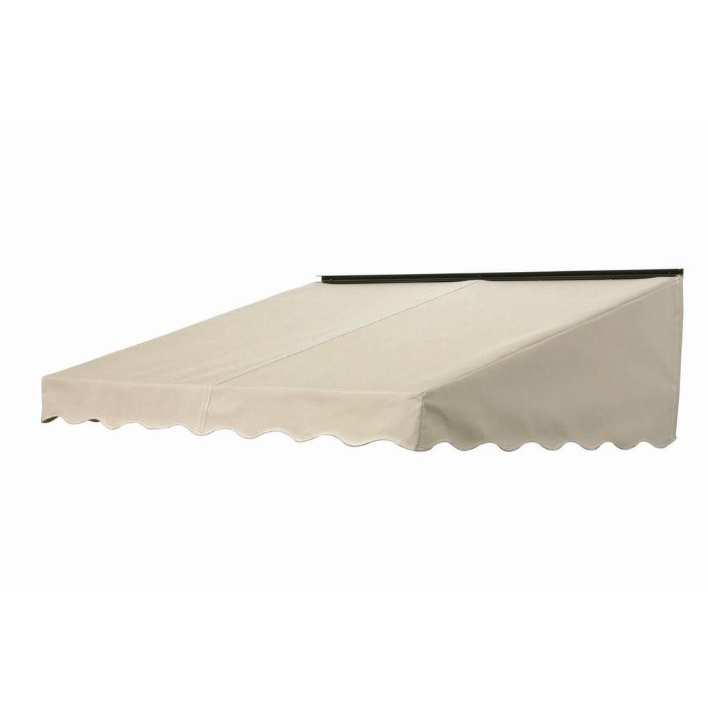 NuImage Awnings 3 ft. 2700 Series Fabric Door Canopy (17 in. H x 41 in. D) in Linen