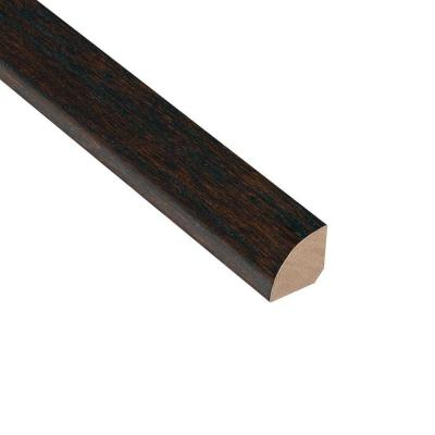 Oak Coffee 3/4 in. Thick x 3/4 in. Wide x 94 in. Length Quarter Round Molding