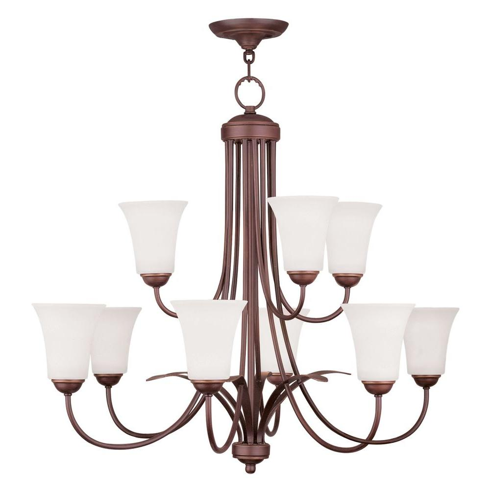 Livex Lighting Providence 9-Light Vintage Bronze Incandescent Ceiling Chandelier