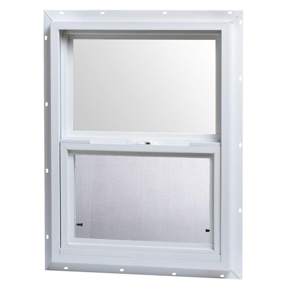 Tafco windows 18 in x 24 in single hung vinyl window for Vinyl home windows