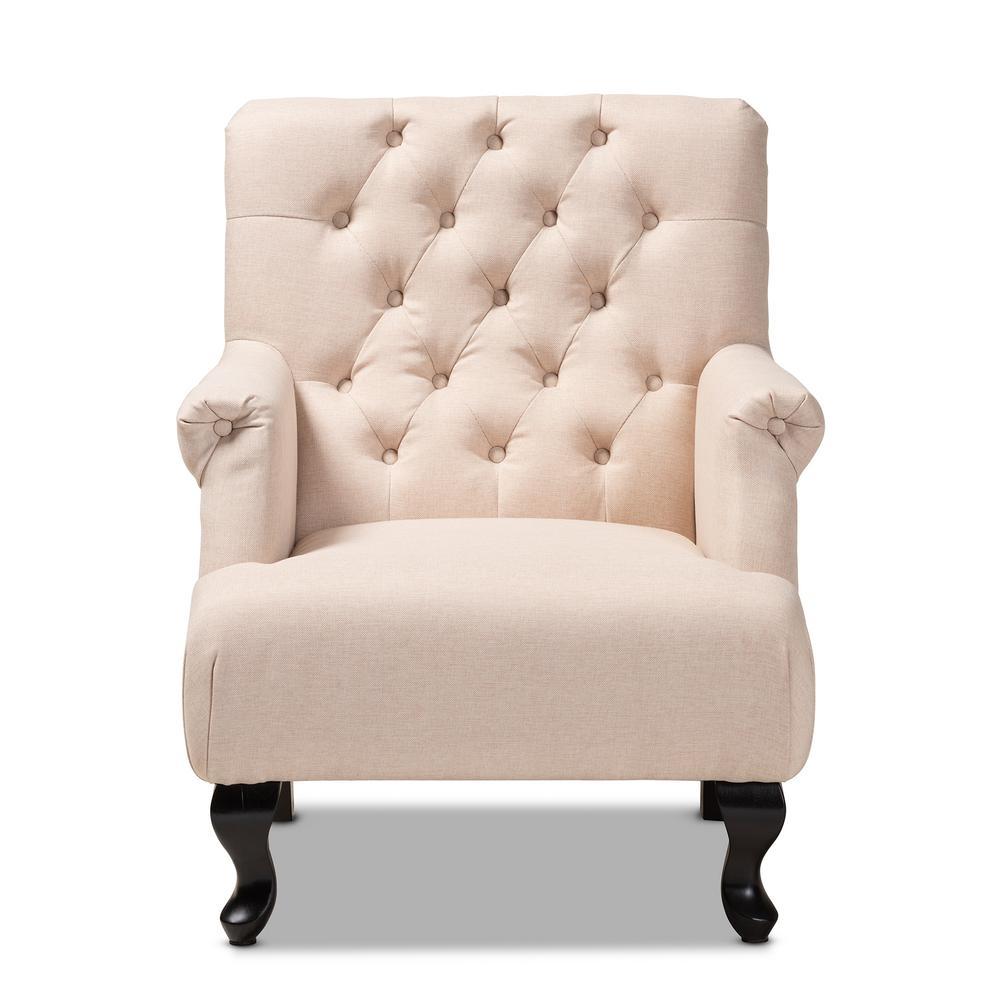 Belan Beige Fabric Accent Chair