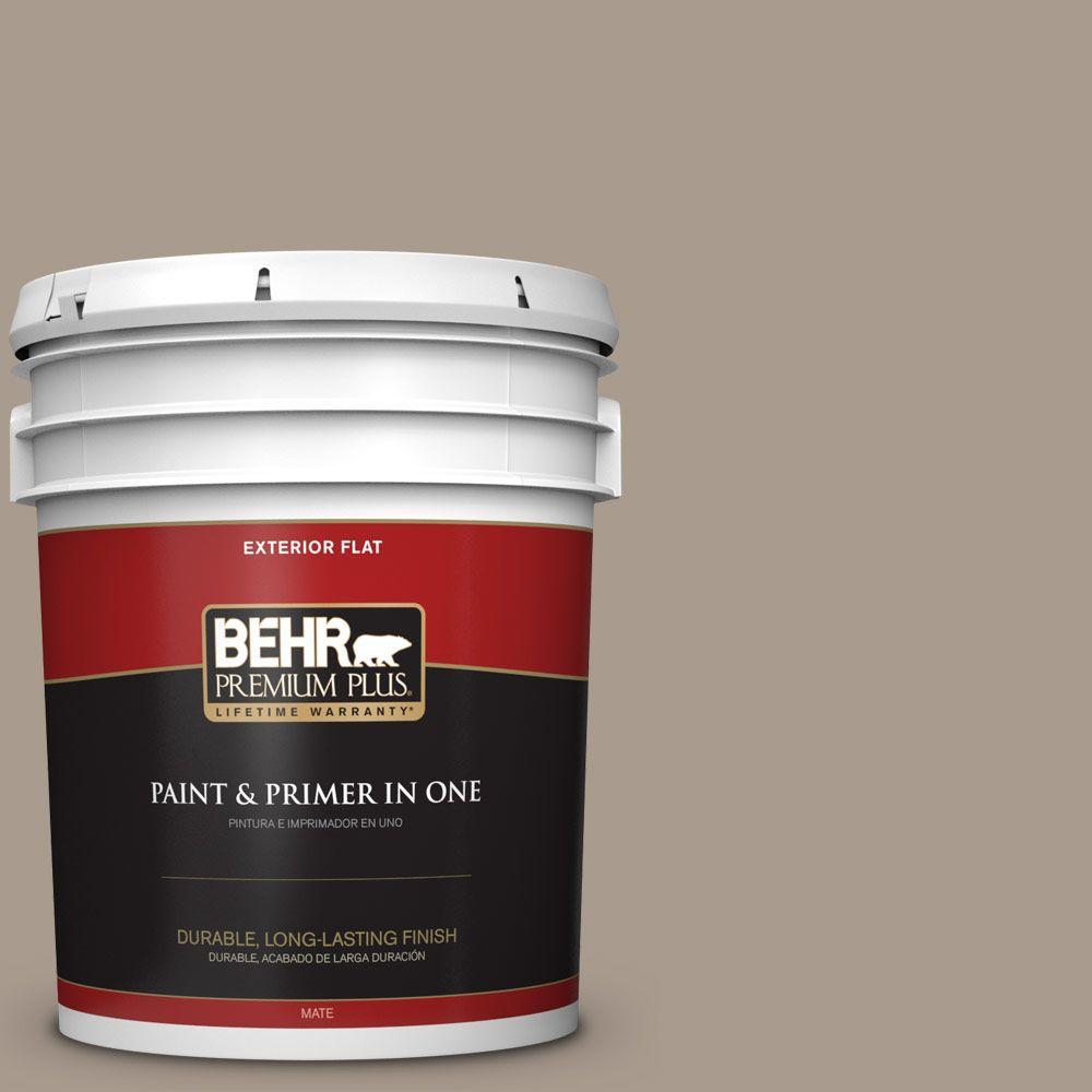 BEHR Premium Plus 5-gal. #N210-4 Espresso Martini Flat Exterior Paint