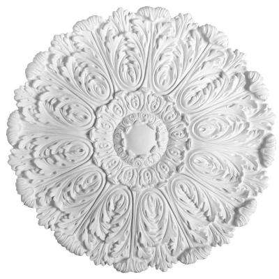 European Collection 29-1/2 in. x 1-3/4 in. Acanthus Polyurethane Ceiling Medallion