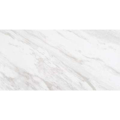 Kolasus White 12 in. x 24 in. Glazed Porcelain Floor and Wall Tile (16 sq. ft. /case)