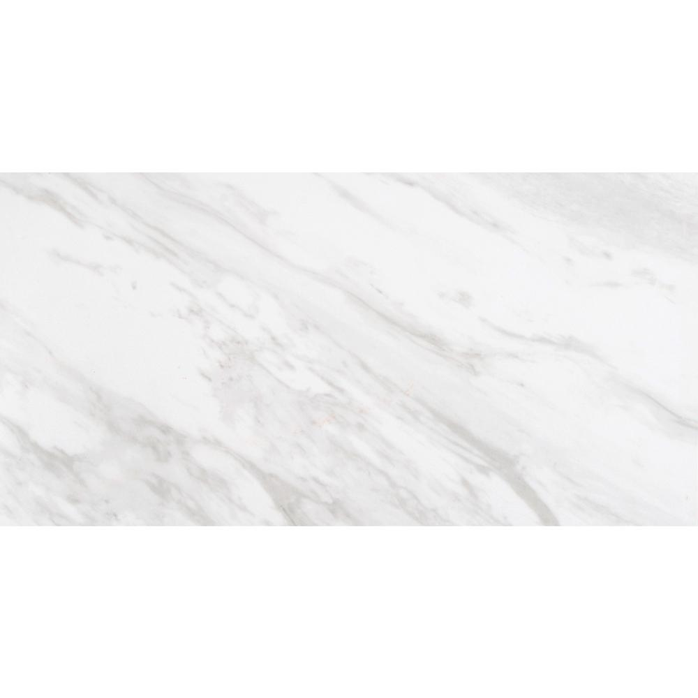 Home Decorators Collection Kolasus White 12 In X 24 Glazed Porcelain Floor And Wall Tile