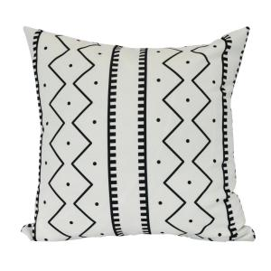 16 inch Mudcloth Geometric Print Decorative Pillow by
