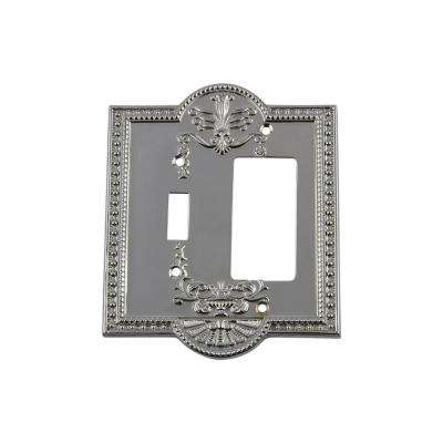Meadows Switch Plate with Toggle and Rocker in Bright Chrome