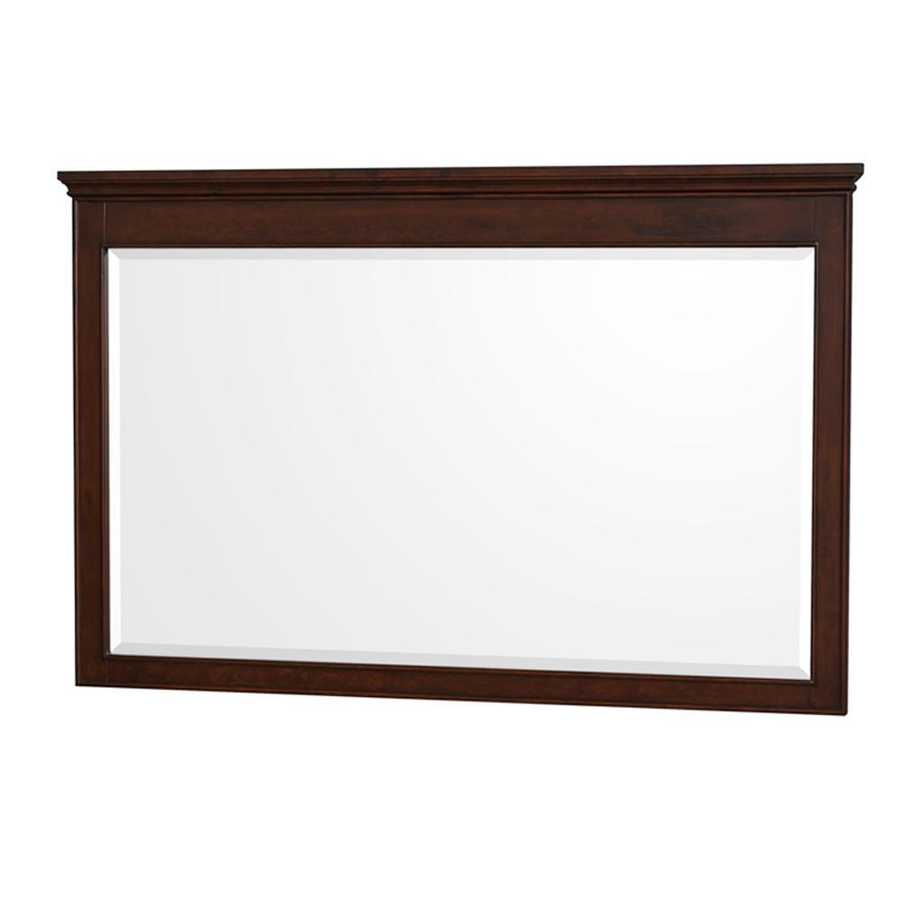Berkeley 56 in. W x 36 in. H Framed Wall Mirror in Dark Chestnut