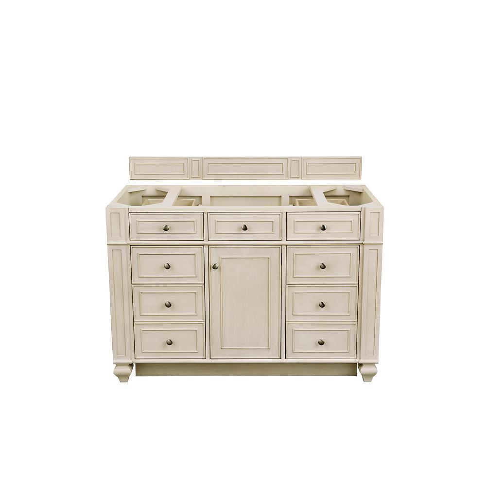 Bristol 48 in. W Bathroom Single Vanity Cabinet Only in Vintage Vanilla