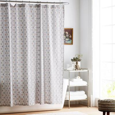 Zahra Organic Cotton Percale Shower Curtain
